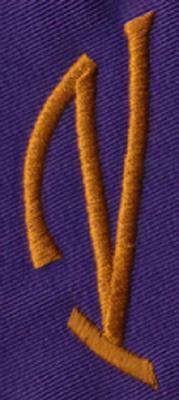 """Embroidery Design: SM Left V0.95"""" x 2.62"""""""