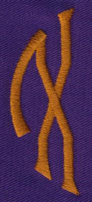"Embroidery Design: SM Left X0.97"" x 2.61"""