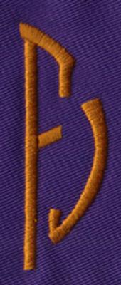 """Embroidery Design: SM Right F0.95"""" x 2.69"""""""