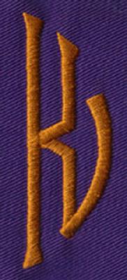 """Embroidery Design: SM Right K0.94"""" x 2.61"""""""