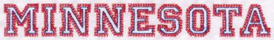"Embroidery Design: Minnesota Name1.04"" x 8.02"""