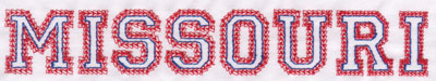 "Embroidery Design: Missouri Name1.30"" x 8.00"""