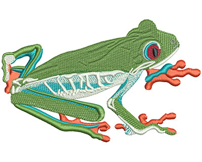 Embroidery Design: Tree Frog Lg 4.94w X 3.06h