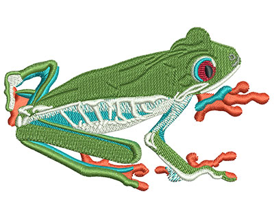 Embroidery Design: Tree Frog Med 3.94w X 2.44h