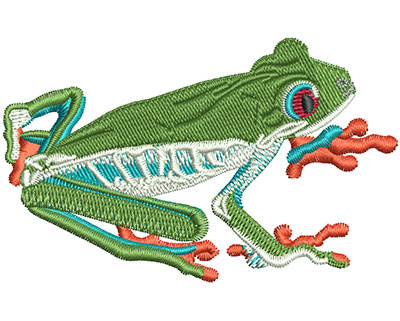 Embroidery Design: Tree Frog Sm 2.94w X 1.83h
