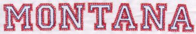 "Embroidery Design: Montana Name1.22"" x 7.99"""