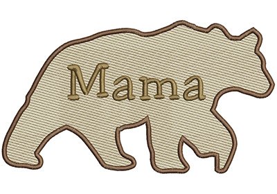Embroidery Design: Mama Bear Lg 8.66w X 4.86h