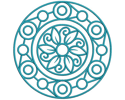Embroidery Design: Mandalas Vol 1 Design 2  7.69w X 7.69h