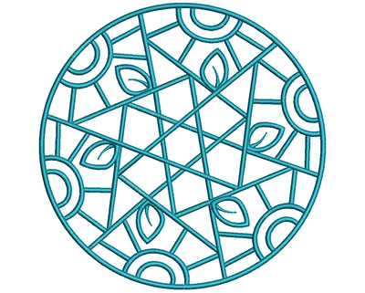 Embroidery Design: Mandalas Vol 1 Design 3 7.72w X 7.73h