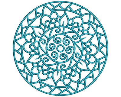 Embroidery Design: Mandalas Vol 1 Design 5 7.7w X 7.69h