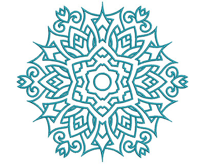 Embroidery Design: Mandalas Vol 2 Design 1 7.69w X 7.20h
