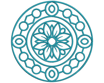 Embroidery Design: Mandalas Vol 2 Design 2 7.71w X 7.70h