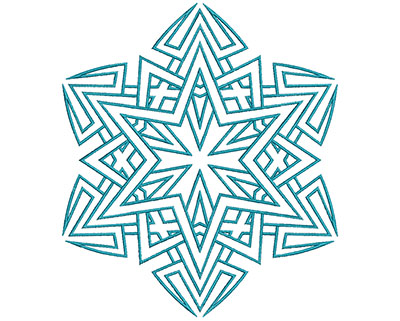 Embroidery Design: Mandalas Vol 2 Design 3 6.74w X 7.70h