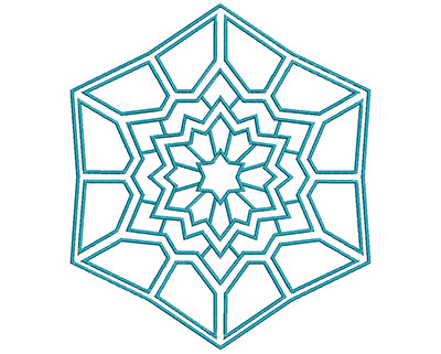 Embroidery Design: Mandalas Vol 2 Design 5 6.51w X 7.52h