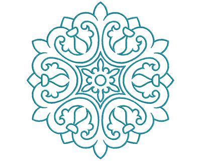 Embroidery Design: Mandalas Vol 3 Design 12 7.71w X 7.18h