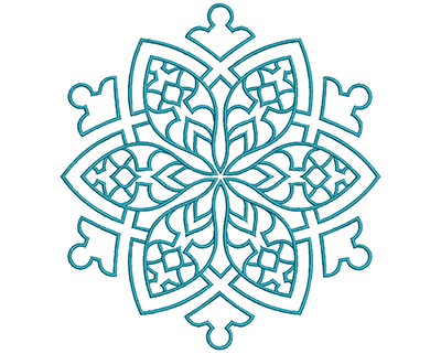 Embroidery Design: Mandalas Vol 3 Design 13 7.69w X 7.09h