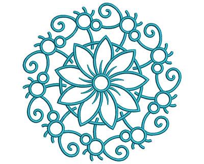 Embroidery Design: Mandalas Vol 3 Design 14 7.59w X 7.59h