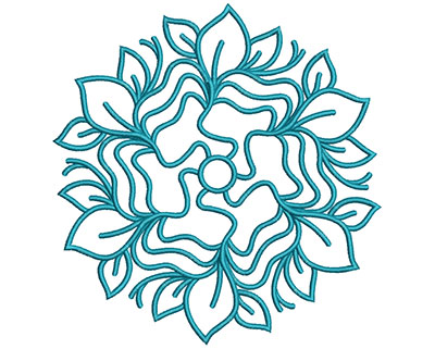 Embroidery Design: Mandalas Vol 3 Design 15 7.69w X 7.38h