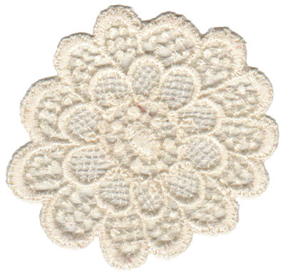 """Embroidery Design: Vintage Lace - 022.71"""" x 3.08"""""""