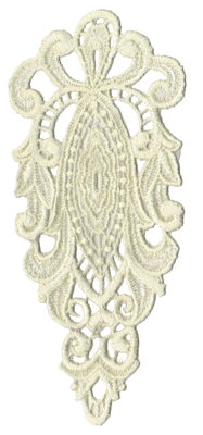 "Embroidery Design: Vintage Lace - 033.10"" x 6.98"""