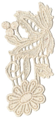 """Embroidery Design: Vintage Lace - 052.96"""" x 5.45"""""""
