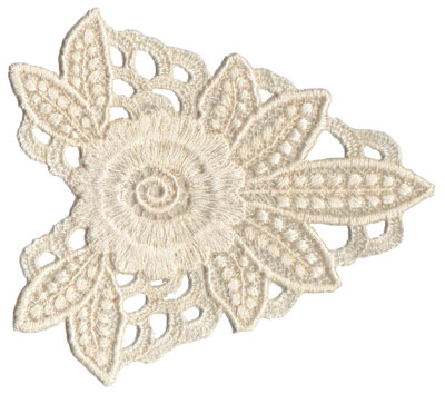 """Embroidery Design: Vintage Lace - 064.70"""" x 4.50"""""""