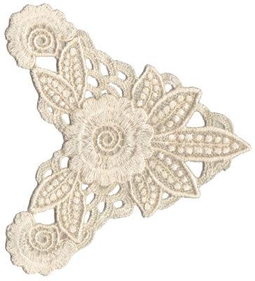 """Embroidery Design: Vintage Lace - 075.16"""" x 5.79"""""""