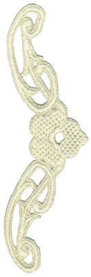 """Embroidery Design: Vintage Lace - 113.39"""" x 8.25"""""""