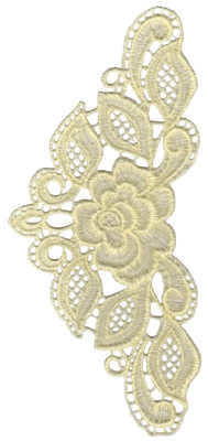 "Embroidery Design: Vintage Lace - 133.77"" x 7.79"""