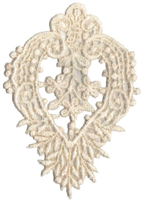 """Embroidery Design: Vintage Lace - 203.14"""" x 4.24"""""""