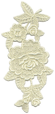"""Embroidery Design: Vintage Lace - 223.46"""" x 7.29"""""""