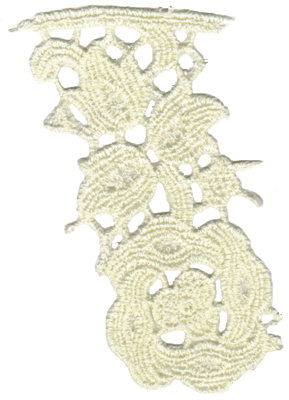 """Embroidery Design: Vintage Lace - 333.67"""" x 4.65"""""""