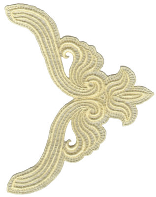 """Embroidery Design: Vintage Lace - 355.40"""" x 7.09"""""""