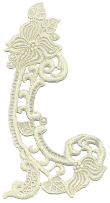"""Embroidery Design: Vintage Lace - 365.04"""" x 9.69"""""""