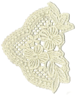 """Embroidery Design: Vintage Lace - 373.72"""" x 4.48"""""""