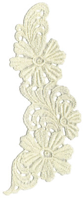 """Embroidery Design: Vintage Lace - 413.07"""" x 6.65"""""""