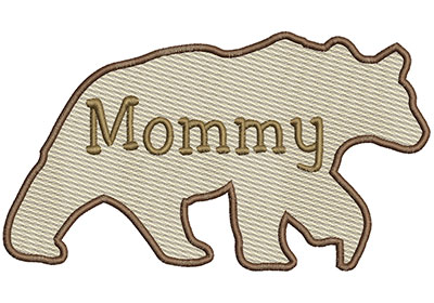 Embroidery Design: Mommy Bear Sm 6.97w X 3.91h