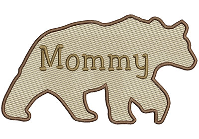 Embroidery Design: Mommy Bear Lg 8.66w X 4.86h