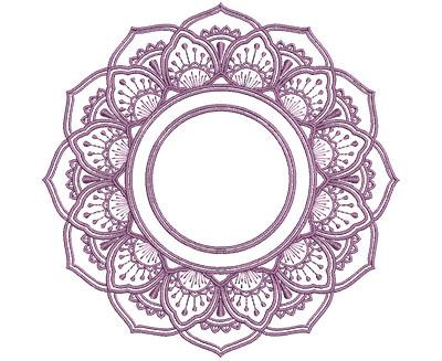 Embroidery Design: Monogram Mandalas 1 Lg 7.01w X 6.95h