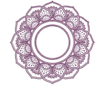 Embroidery Design: Monogram Mandalas 1 Med 6.01w X 5.96h
