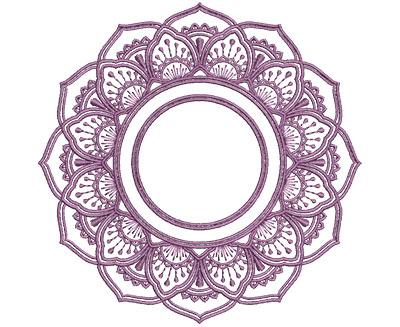 Embroidery Design: Monogram Mandalas 1 Sm 5.01w X 4.97h