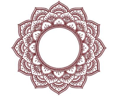 Embroidery Design: Monogram Mandalas 2 Lg 7.00w X 6.94h