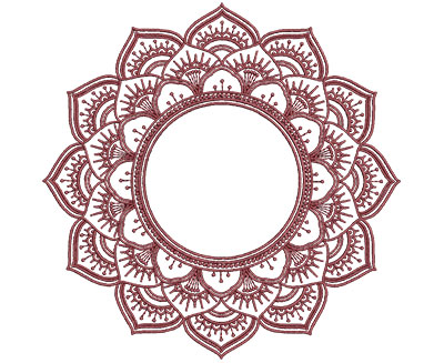 Embroidery Design: Monogram Mandalas 2 Med 6.00w X 5.95h