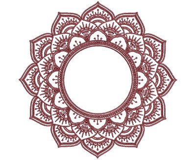 Embroidery Design: Monogram Mandalas 2 Sm 5.00w X 4.96h