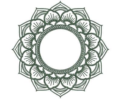 Embroidery Design: Monogram Mandalas 3 Lg 6.99w X 6.94h