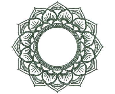 Embroidery Design: Monogram Mandalas 3 Med 5.99w X 5.94h