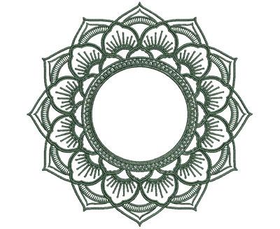 Embroidery Design: Monogram Mandalas 3 Sm 4.99w X 4.95h