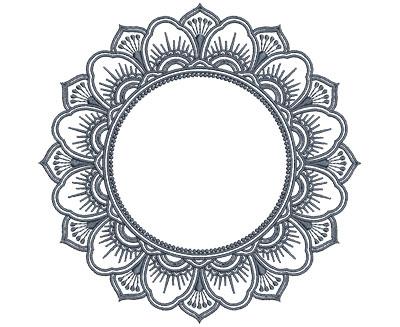 Embroidery Design: Monogram Mandalas 4 Lg 7.01w X 6.96h