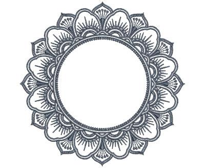 Embroidery Design: Monogram Mandalas 4 Med 6.01w X 5.97h