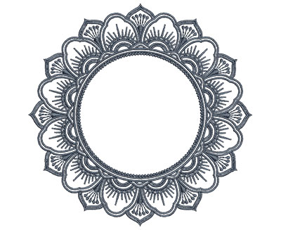 Embroidery Design: Monogram Mandalas 4 Sm 5.01w X 4.97h